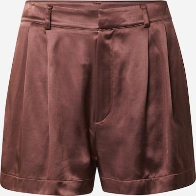 Pantaloni con pieghe 'Valentina' A LOT LESS di colore cioccolato, Visualizzazione prodotti