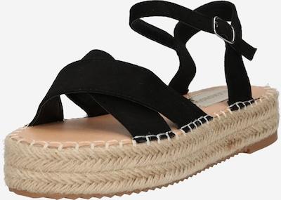 Sandale GLAMOROUS pe negru, Vizualizare produs