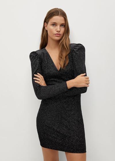 MANGO Kleid  'Vikypic 7' in schwarz / silber, Modelansicht