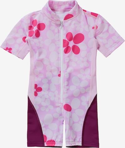HYPHEN Schwimmanzug in orchidee / brombeer / weiß, Produktansicht