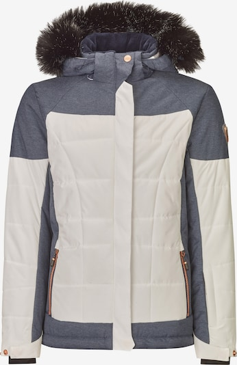 KILLTEC Outdoorjas 'Ambelina' in de kleur Blauw denim / Offwhite, Productweergave