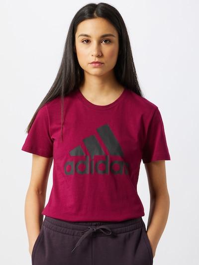 ADIDAS PERFORMANCE Functioneel shirt in de kleur Framboos / Zwart, Modelweergave