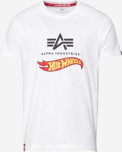 Tricou 'Hot Wheels' ALPHA INDUSTRIES pe galben / gri metalic / roșu deschis / alb, Vizualizare produs