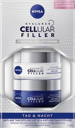 NIVEA Set 'Day & Night Hyaluron Cellular Filler' in dunkelblau / silber / weiß, Produktansicht