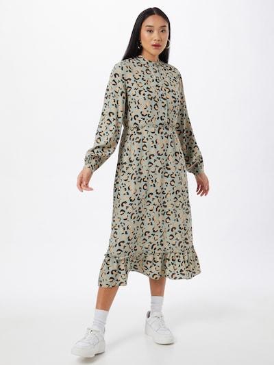 PIECES Šaty 'DUA' - světle zelená / meruňková / černá, Model/ka