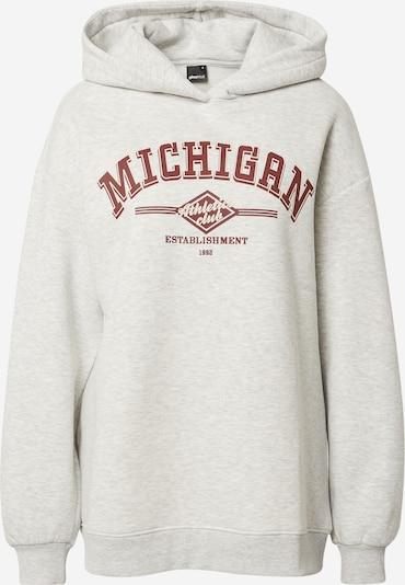Gina Tricot Sweatshirt 'Lola' in grau / rostrot / weiß, Produktansicht