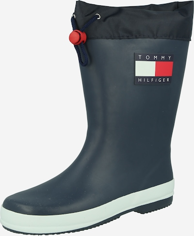 TOMMY HILFIGER Rubber boot in Navy / Red / White, Item view