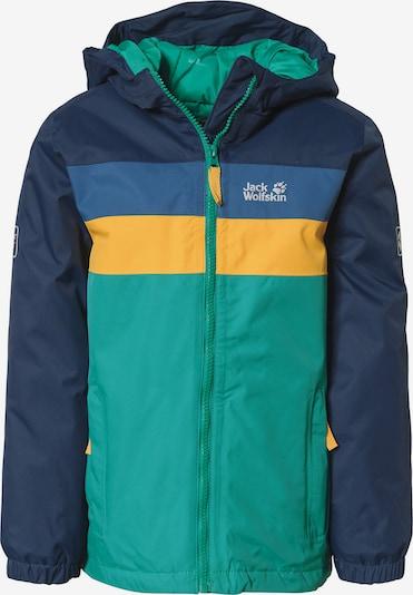 JACK WOLFSKIN Jacke 'FOUR LAKES' in blau / navy / türkis / gelb, Produktansicht