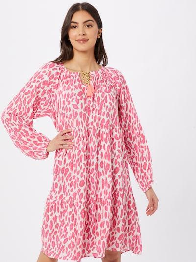 Zwillingsherz Kleid in pink / hellpink / weiß, Modelansicht