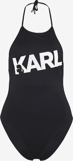 Karl Lagerfeld Maillot de bain en noir / blanc, Vue avec produit