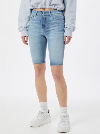 REPLAY Shorts in blue denim, Modelansicht