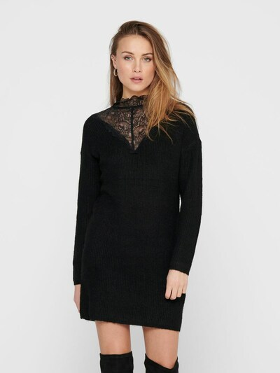 JACQUELINE de YONG Strickkleid in schwarz, Modelansicht