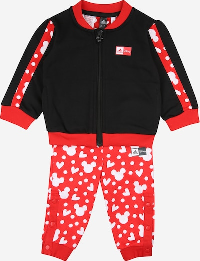 ADIDAS PERFORMANCE Tracksuit in red / black / white, Item view
