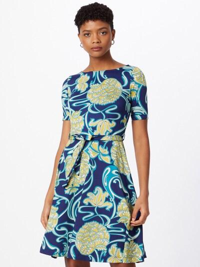 King Louie Kleid 'Betty' in blau / hellblau / gelb / weiß, Modelansicht