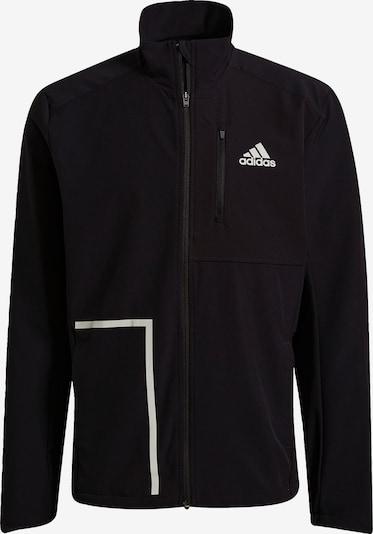 ADIDAS PERFORMANCE Sportjacke 'Own The Run' in schwarz / weiß, Produktansicht