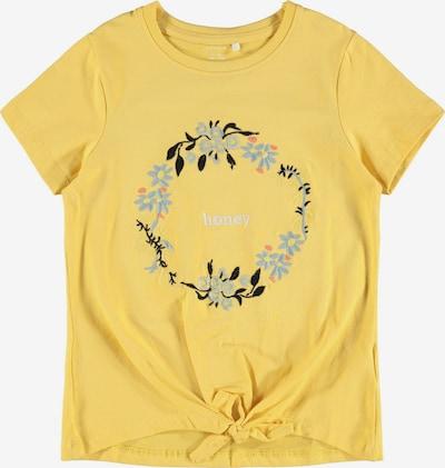 NAME IT Shirt 'Daisi' in hellblau / gelb / altrosa / schwarz / weiß, Produktansicht