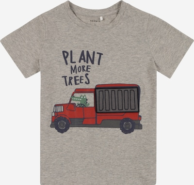 NAME IT Camiseta 'DARSON' en navy / greige / gris oscuro / rojo, Vista del producto