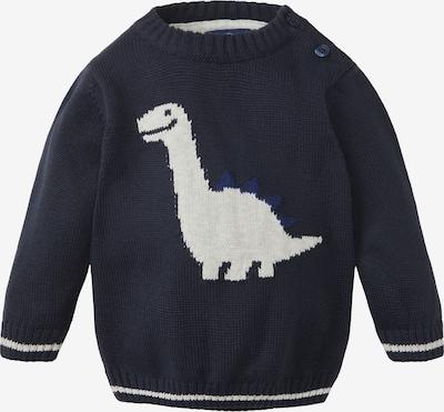 TOM TAILOR Pullover in dunkelblau / weiß, Produktansicht