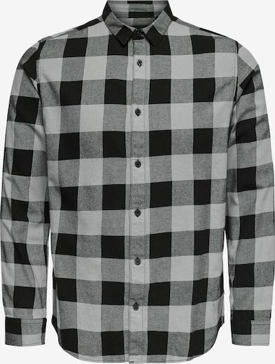 Only & Sons Hemd 'Gudmund' in grau / schwarz, Produktansicht
