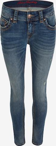 Blue Monkey Skinny Fit Jeans Laura in Blau