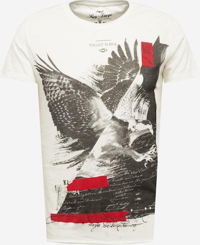 Key Largo Тениска 'NIGHTHAWK' в червено / черно / мръсно бяло, Преглед на продукта