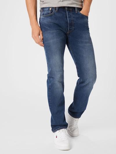 LEVI'S Jeans in blue denim / braun / rot / weiß, Modelansicht