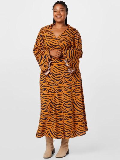 River Island Plus Kleid in cognac / schwarz, Modelansicht