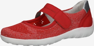 REMONTE Ballet Flats with Strap in Red