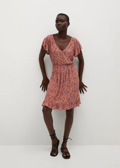 MANGO Kleid 'GRACIOSA' in taubenblau / rot / melone / weiß, Modelansicht