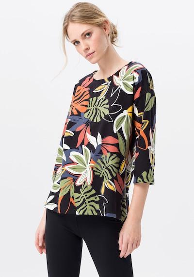 Green Cotton 3/4-Arm-Shirt in schwarz: Frontalansicht