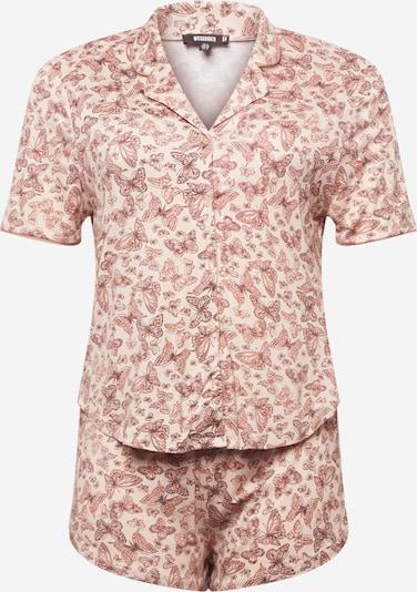 Missguided Plus Pijama de pantalón corto en altrosa / rosa pastel / negro, Vista del producto