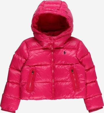 Polo Ralph Lauren Winter jacket 'CHANNEL' in Pink
