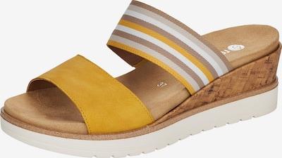 REMONTE Pantolette in beige / hellbraun / gelb / weiß, Produktansicht