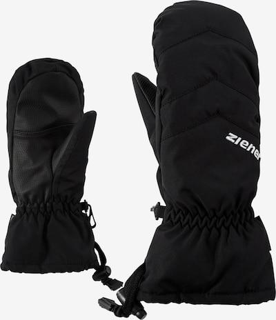 ZIENER Skihandschuh 'LETTERO AS(R) MITTEN glove junior' in schwarz, Produktansicht
