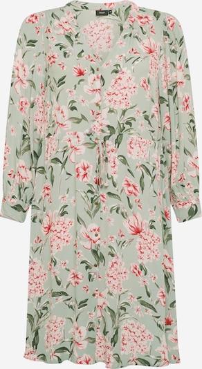 Zizzi Robe-chemise 'JAYCE' en vert / vert pastel / rouge / blanc, Vue avec produit