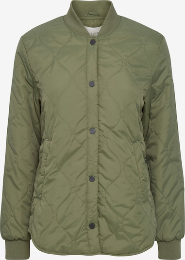 b.young Steppjacke 'BYCANNA' in khaki / dunkelgrün, Produktansicht