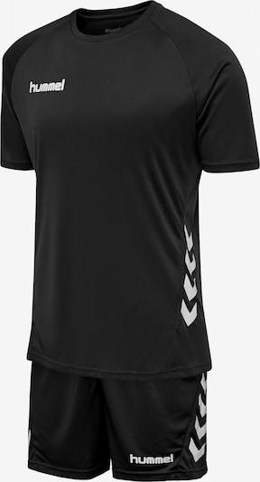 Hummel Trainingsanzug in schwarz / weiß, Produktansicht