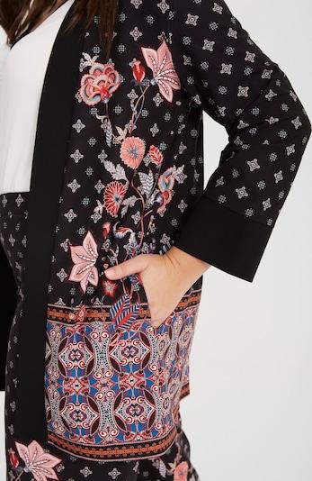 SPGWOMAN Kimono 'KIMONO MIT BORTE' in schwarz, Produktansicht