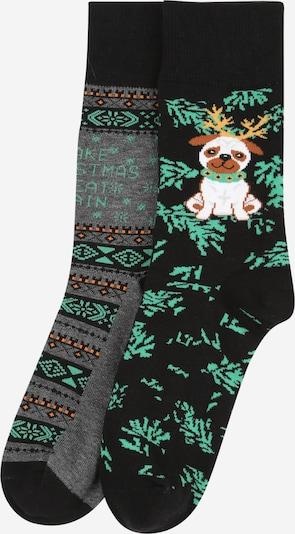 Urban Classics Socken in grün / mischfarben / schwarz, Produktansicht