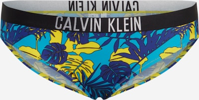 Calvin Klein Swimwear Bikini apakšdaļa zils / tirkīza / dzeltens / gaiši pelēks / melns, Preces skats