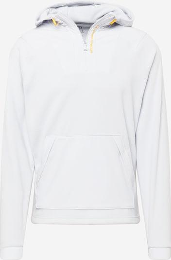 UNDER ARMOUR Sportsweatshirt 'Rush in hellgrau / orange, Produktansicht