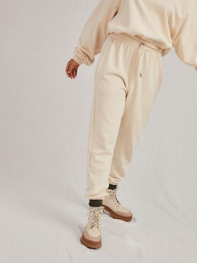 A LOT LESS Hose 'Ida' - (GOTS) in offwhite, Modelansicht