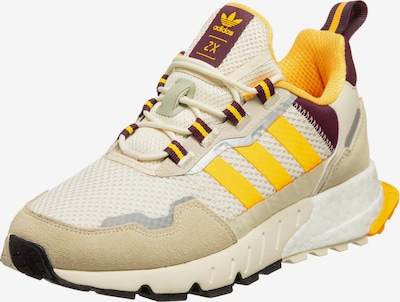 ADIDAS ORIGINALS Sneakers 'ZX 1K BOOST' in Beige / Cream / Yellow / Grey / Ruby red: Frontal view