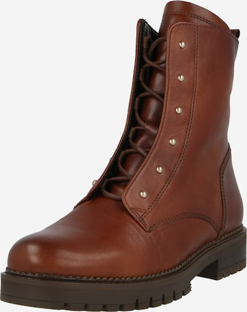 GABOR Lace-Up Ankle Boots in Brown