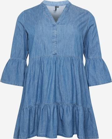ONLY Carmakoma Kleid 'KIKKA MARAKESH' in Blau
