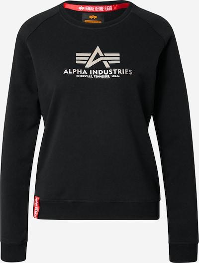 ALPHA INDUSTRIES Sweatshirt in de kleur Zwart / Zilver, Productweergave