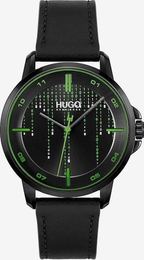 HUGO Analoguhr in grün / schwarz, Produktansicht