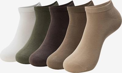 INDICODE JEANS Sokken 'Melvin' in de kleur Beige / Bruin / Wit: Vooraanzicht