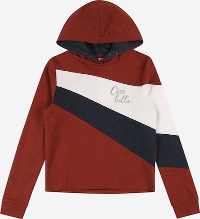 NAME IT Sweater majica 'Lelisse' u tamno plava / tamno crvena / srebro / bijela, Pregled proizvoda