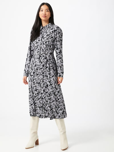 PIECES Midikleid in schwarz / weiß, Modelansicht